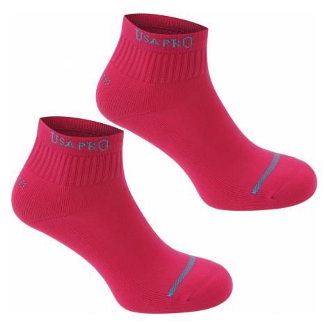 USA Pro 2 Pack Crew Socks
