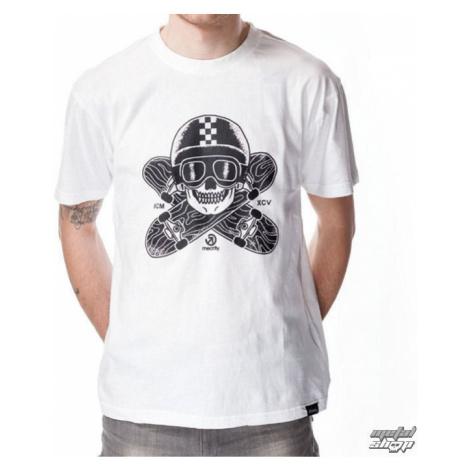 tričko street MEATFLY EASYRIDER A sivá biela hnedá