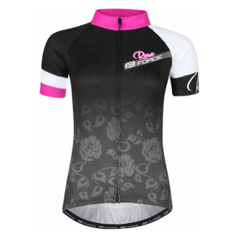 Dámsky Cyklistický Dres S Krátkym Rukávom Force Rose Čierno-Ružový