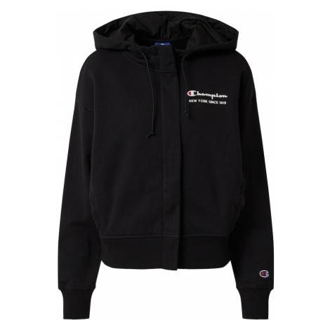 Champion Authentic Athletic Apparel Tepláková bunda  čierna / biela