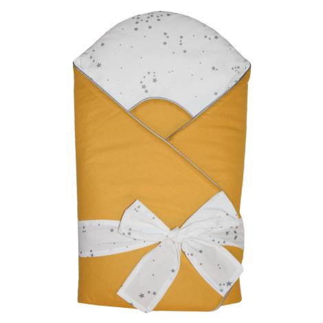 EKO Zavinovačka bavlnená s potlačou a kokosovým vnútrom Mustard Yellow
