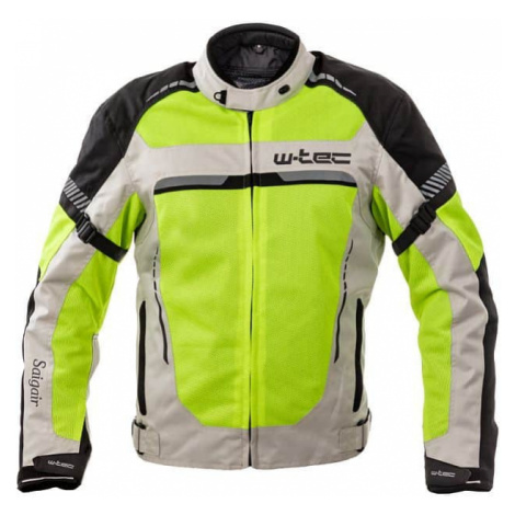 Pánska letná moto bunda W-TEC Saigair Farba Fluo Yellow-Gray
