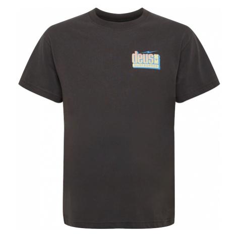 DEUS EX MACHINA Tričko 'Barracuda'  čierna / pastelovo oranžová / svetlomodrá / svetložltá