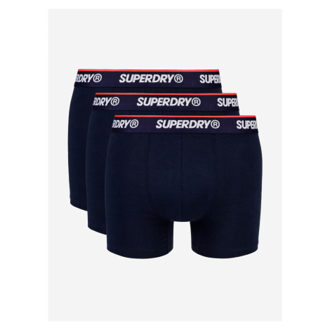 Classic Boxerky 3 ks SuperDry Modrá
