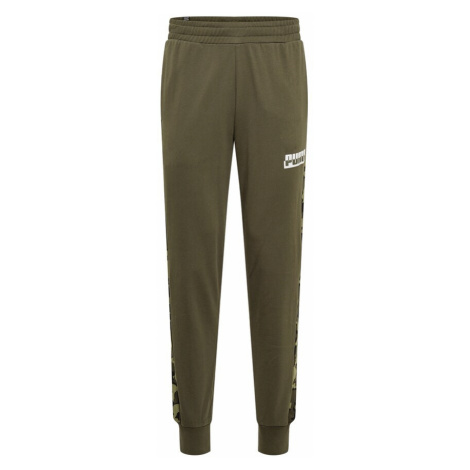 PUMA Športové nohavice  olivová / kaki / biela