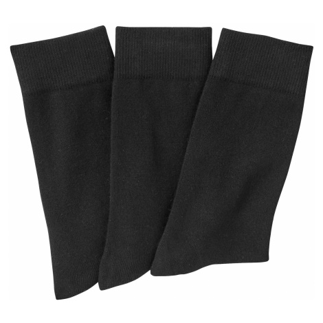 Blancheporte Klasické ponožky, 3 páry čierna
