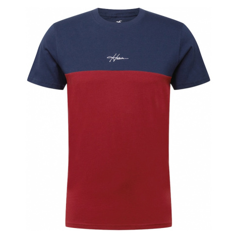 HOLLISTER Tričko  námornícka modrá / červená