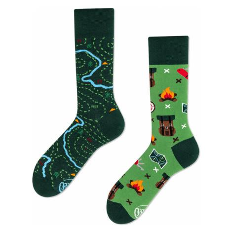 Pánske ponožky map zelená 43-46 Many Mornings