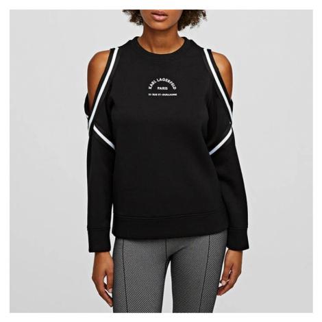 Karl Lagerfeld Cold Shoulder Sweatshirt 205W1816 999