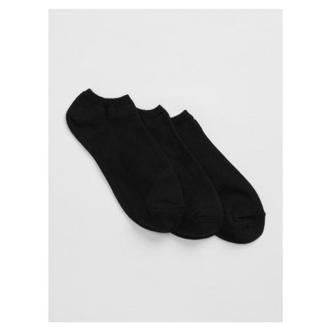 GAP čierne 3 pack dámske ponožiek