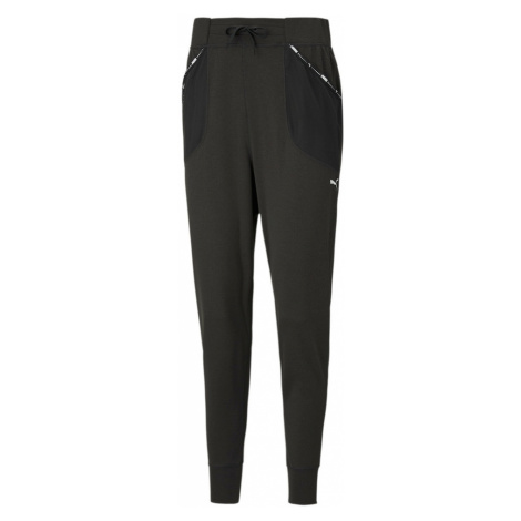 PUMA Športové nohavice  čierna / biela