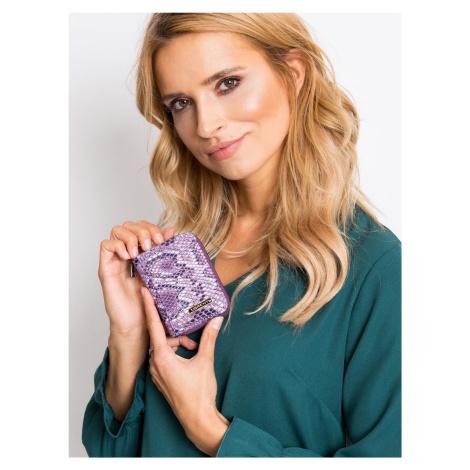 Vzorovaná malá fialová peňaženka