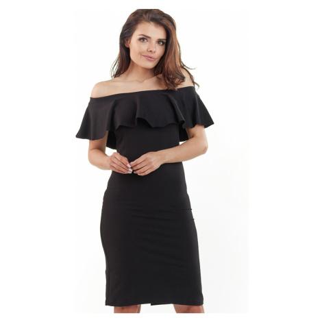 Čierne šaty A221 Awama