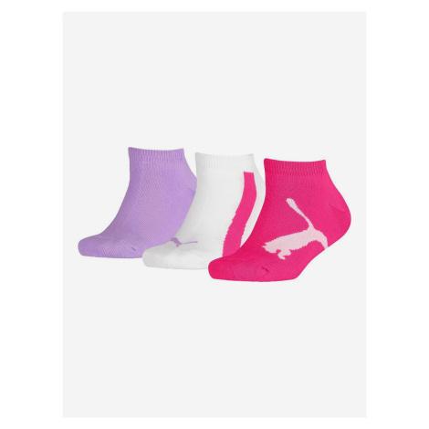 Ponožky Puma Kids Lifestyle Sneakers 3 Pack Farebná