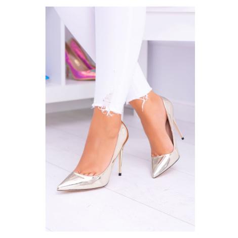 Women's Stilettos Lu Boo Gold Mirrored Mirrores