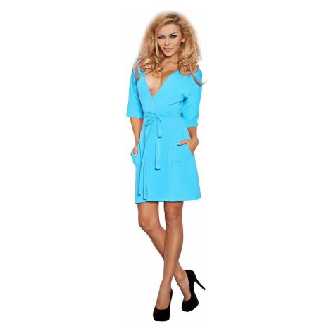 DKaren Woman's Housecoat Erika Turquoise
