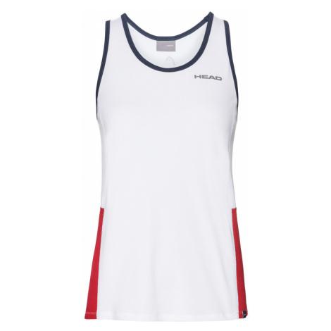 Dievčenské tielko Head Club Tank White/Red