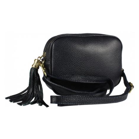 Talianská kožená kabelka Bala Blu Scura