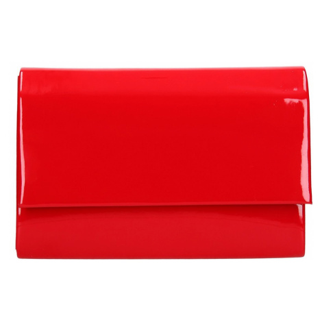 Elegantní listová kabelka Leona - červená Delami