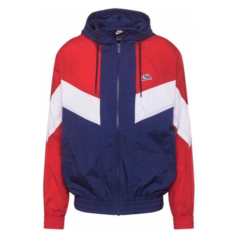 Nike Sportswear Prechodná bunda  biela / červená / námornícka modrá