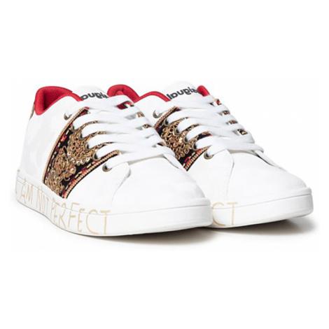 Desigual biele tenisky Shoes Cosmic India