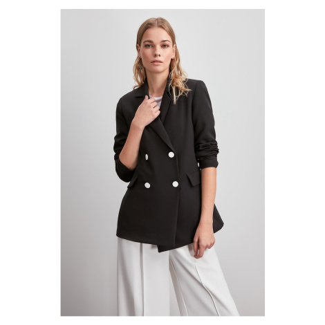 Trendyol Black Button Detailed Blazer Jacket
