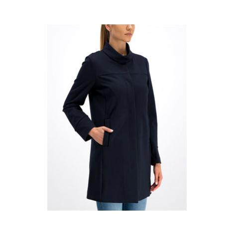 Geox Prechodný kabát W Roose Long Coat W9221N T2543 F4386 Tmavomodrá Regular Fit