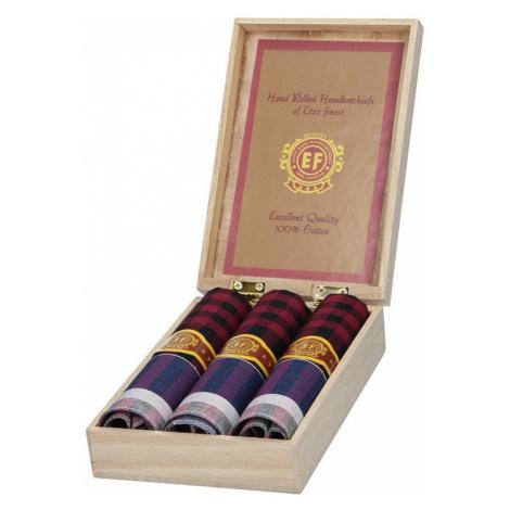 Pánske vreckovky v luxusnej sade ETEX Montara - fialová