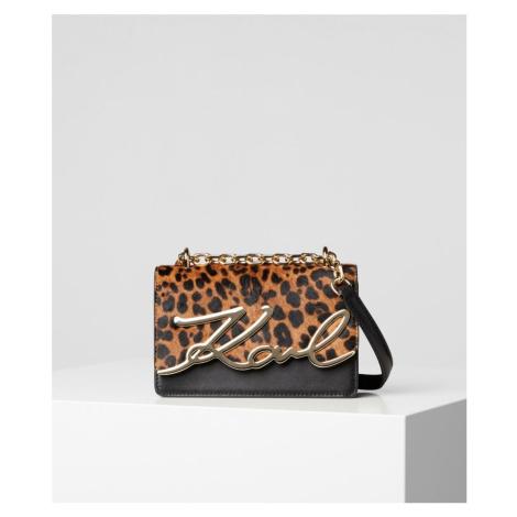 Kabelka Karl Lagerfeld K/Signature Spec Leopard Sm Sb