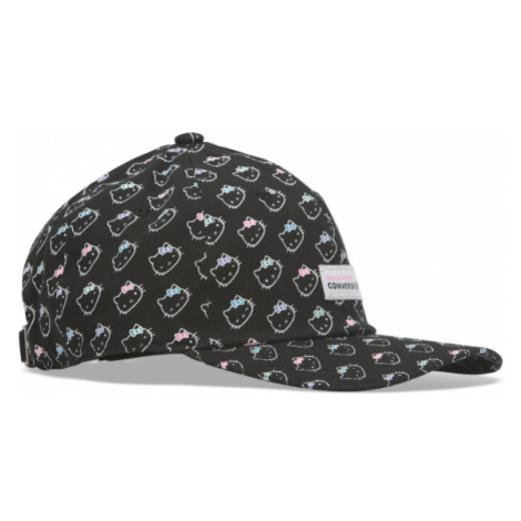 Converse HELLO KITTY FLOWER DAD CAP čierna - Dámska šiltovka