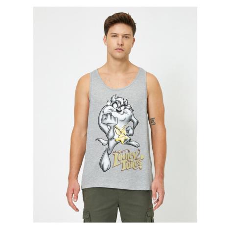 Koton Men's Gray Looney Tunes Printed Undershirt