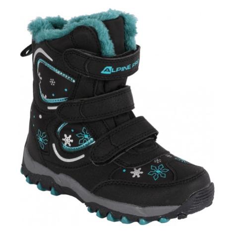 ALPINE PRO KABUNI čierna - Detská zimná obuv