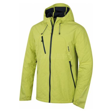 Husky Salex 18 sv. zelená, Pánska softshell bunda