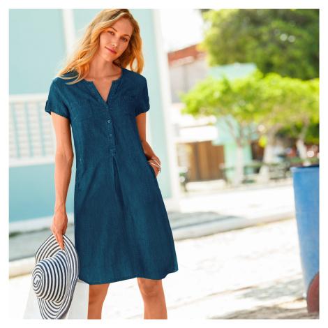 Blancheporte Denimové šaty modrá