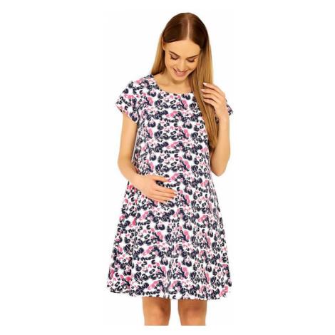 Tehotenské šaty Linde vzor kvetov PeeKaBoo