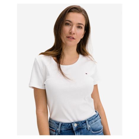 Tommy Hilfiger biele dámske tričko Slim Round