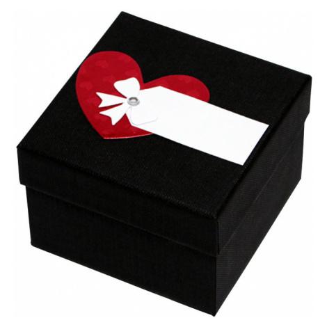 Giftisimo Luxusná darčeková krabička s červeným srdiečkom