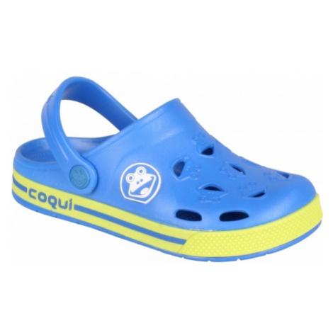 Coqui FROGGY modrá - Detské sandále