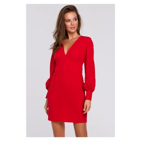Červené šaty K027