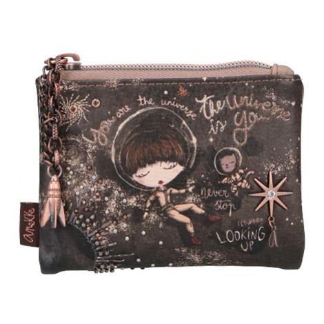Anekke hnedé dámska peňaženka s výšivkou