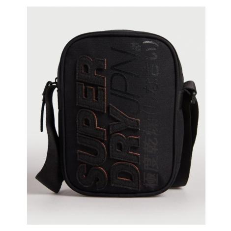 Čierna taška cez plece SUPERDRY MONTAUK