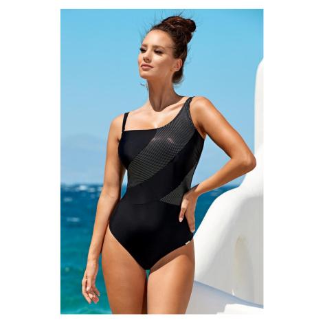 Dámske jednodielne plavky Naomi Black ČIERNA Madora