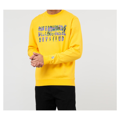 Billionaire Boys Club Straight Logo Crewneck Yellow
