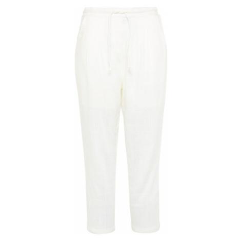 Usha Plisované nohavice  prírodná biela