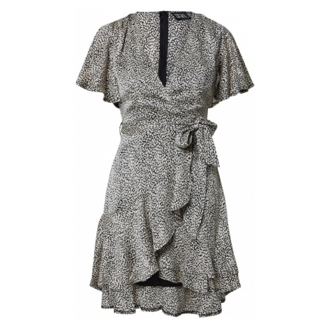 Parallel Lines Košeľové šaty  čierna / béžová
