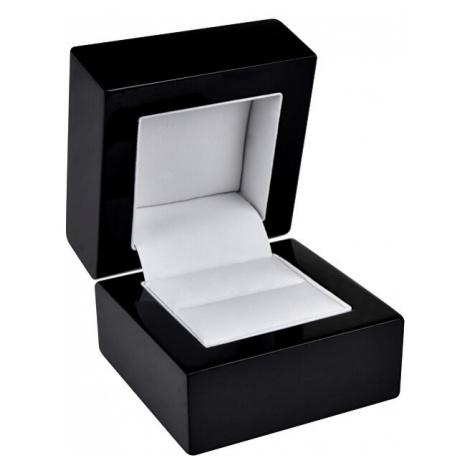 JK Box Čierna drevená krabička na prsteň BB-2 / A25 JKbox