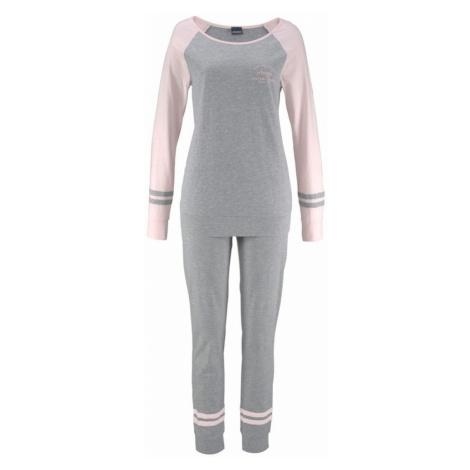 ARIZONA Pyžamo  sivá melírovaná / svetloružová