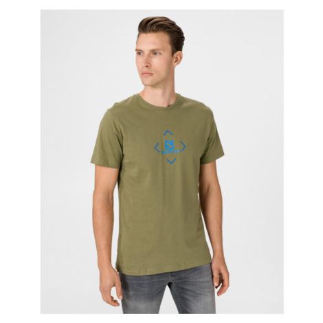 Salomon Logo Tričko Zelená