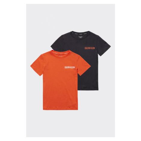PRE DETI! Calvin Klein 2 balenie tričiek - čierna, oranžová