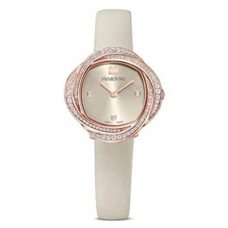 Swarovski Analógové hodinky  ružové zlato / sivá